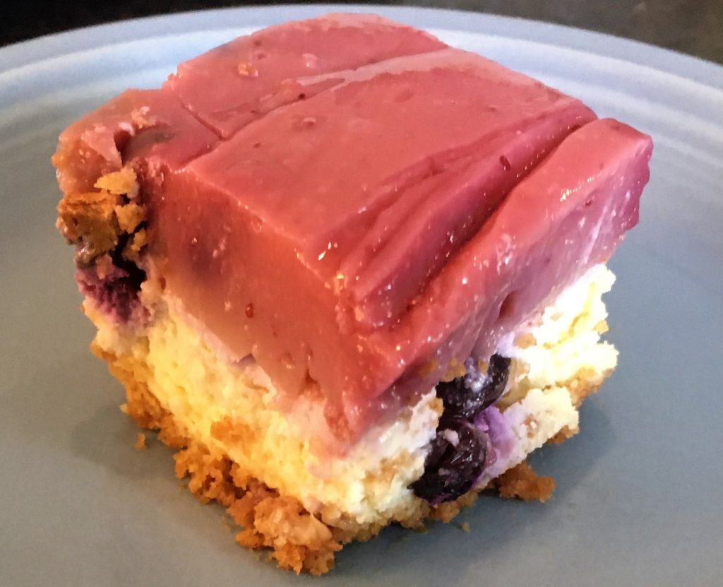 Double Topped Blueberry Cheesecake