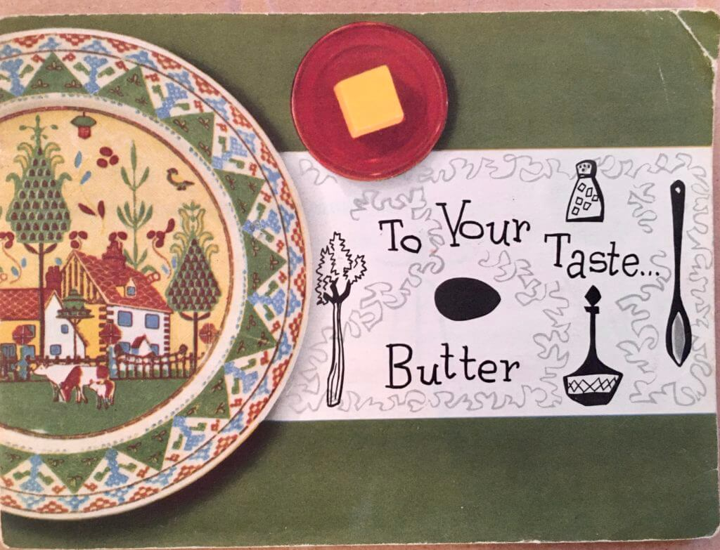 To Your Taste Butter Book Vintage 1950s